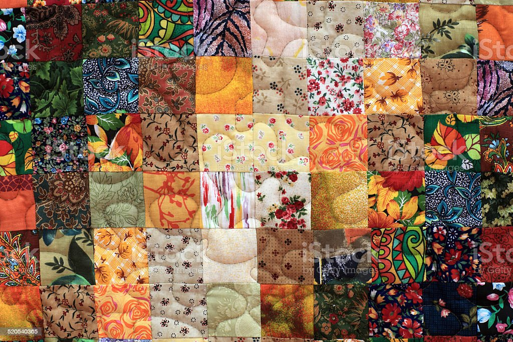 Details of homemade patchwork stock photo