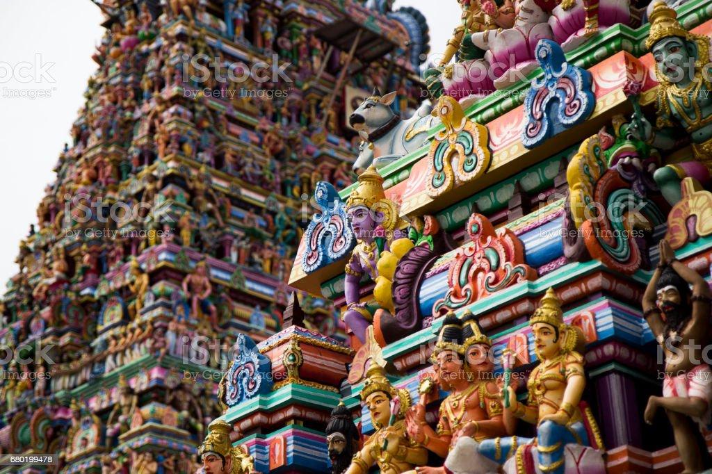 Details of indian Kapaleeswarar temple , Chennai, India stock photo