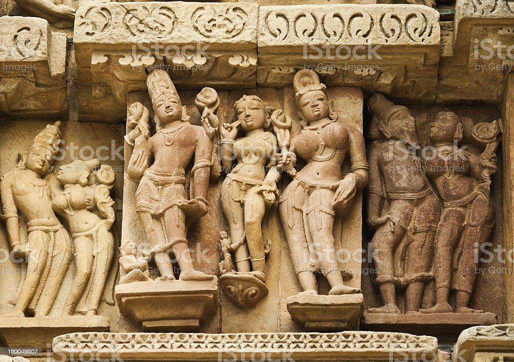 Details of Khajuraho Temple royalty-free stock photo