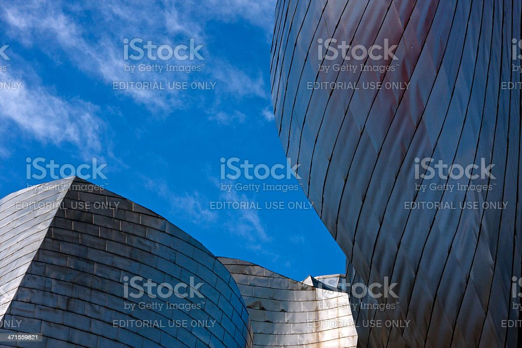 Details of modern architecture: Guggenheim Museum Bilbao stock photo
