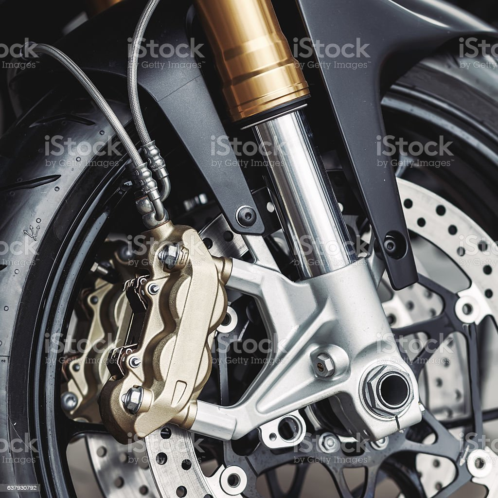 details of motorcycle, Motorbike into deep, stock photo
