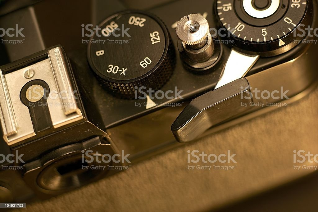 Details of old camera royalty-free stock photo