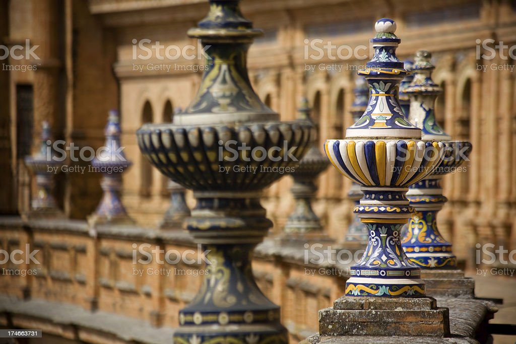 Details of Plaza de Espana royalty-free stock photo