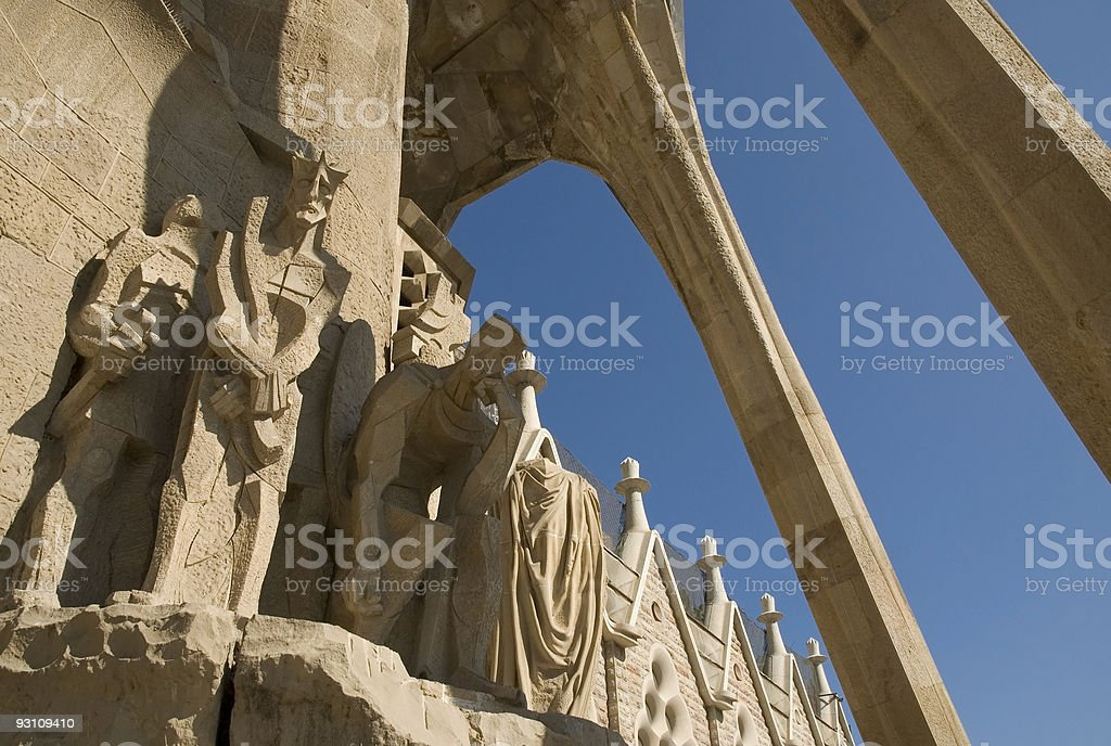 Details of Sagrada Familia in Barcelona royalty-free stock photo