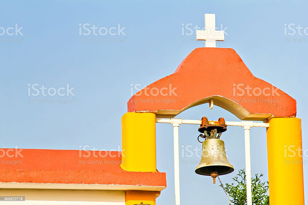 Details of small orthodox church stock photo