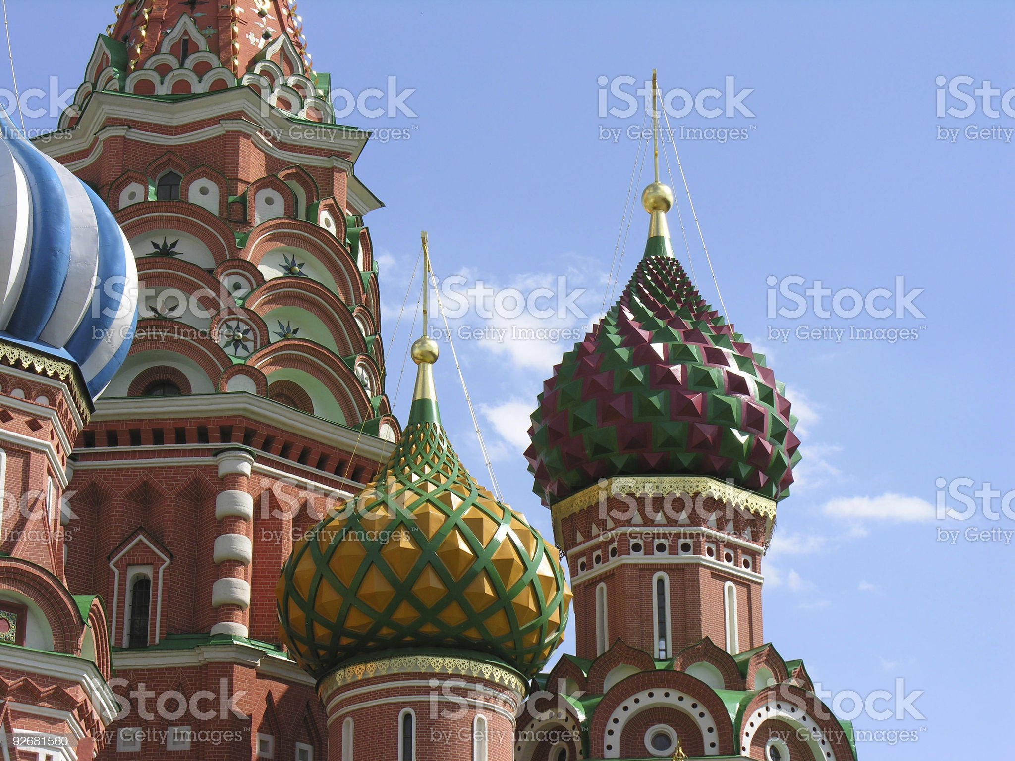 Details of St. Basil Cathedral royalty-free stock photo