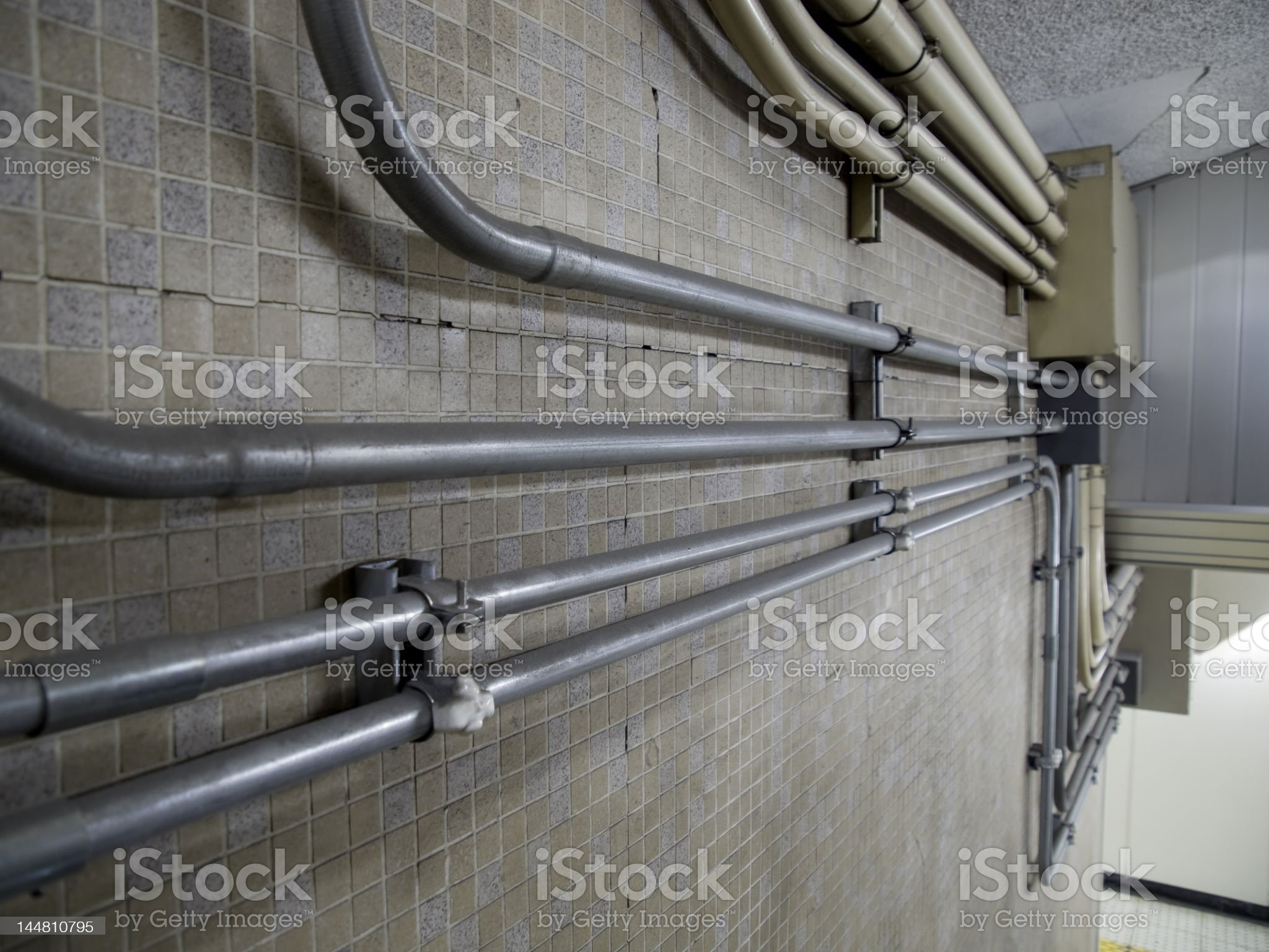 Details of subway station royalty-free stock photo