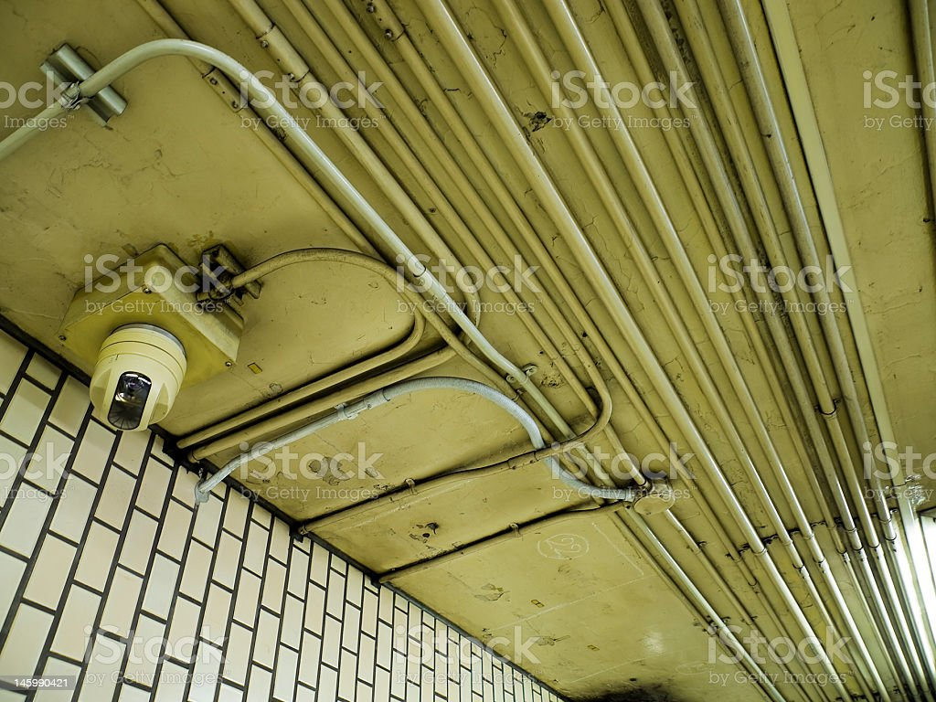 Details of subway station stock photo