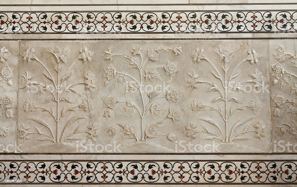 Details of Taj Mahal, India stock photo