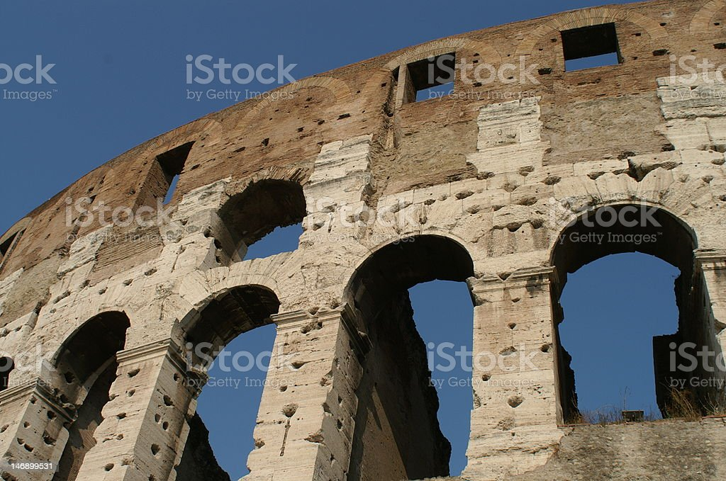 Details of the Colosseum royalty-free stock photo