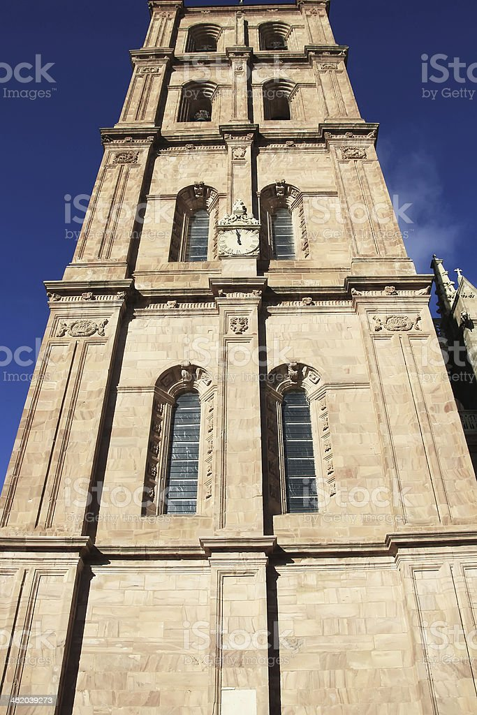 details of the famous Catholic cathedral in Astorga, Spain royalty-free stock photo