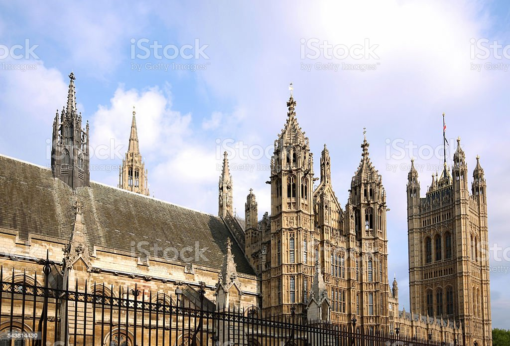Details of the House of Parliament, London, England stock photo