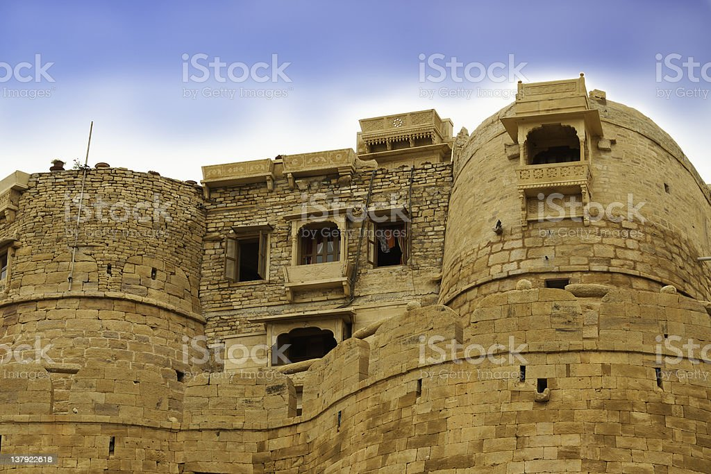 Details of the Jaisalmer Fort stock photo