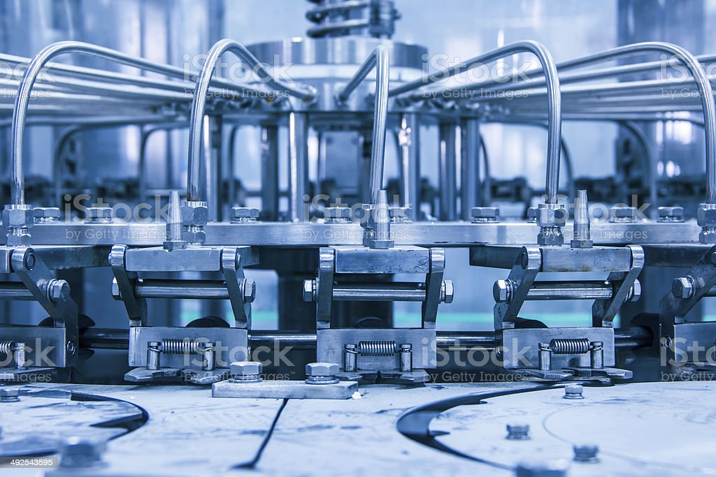 details of the machine,drinks production plant in China stock photo