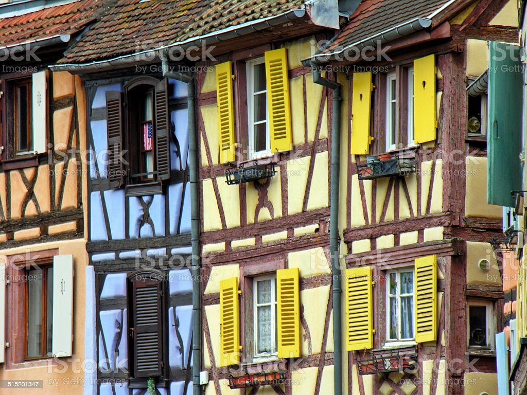 Details of the 'Petite Venise' district in Colmar (France) stock photo