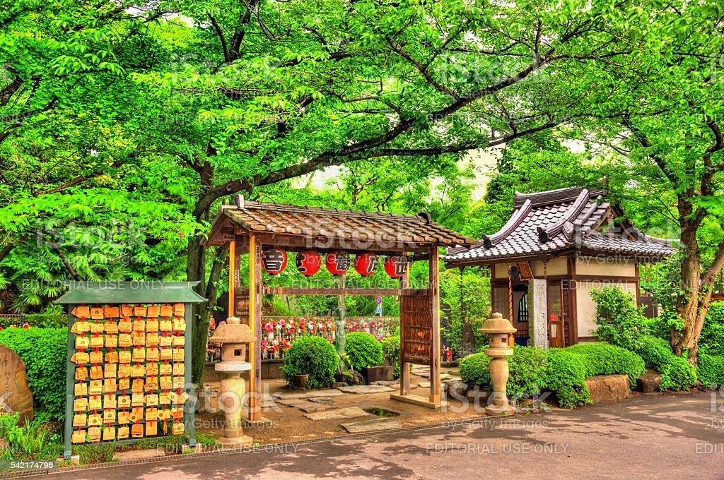Details of Zojo-ji Temple in Tokyo stock photo