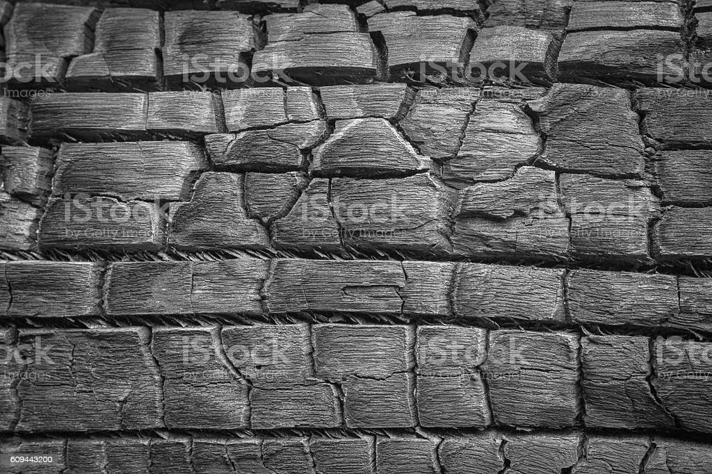 Details on the surface of charcoal black and white stock photo
