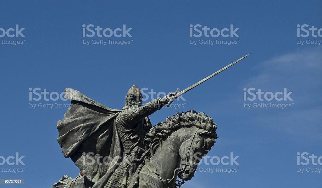 Detalle del Cid stock photo