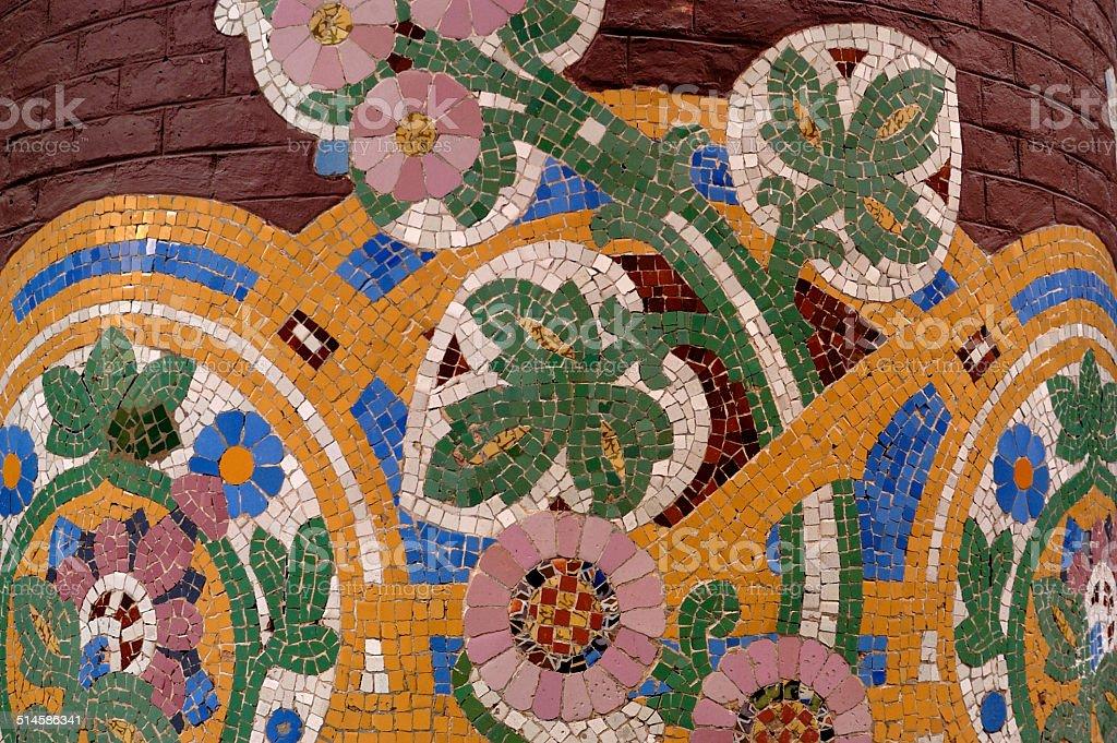 detalle modernista del Palau de la Musica, Barcelona stock photo