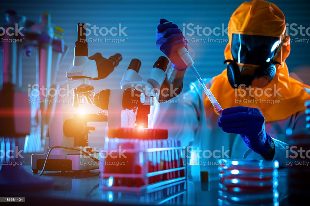 Detection of the pathogen coronavirus Coronaviridae  infection i stock photo