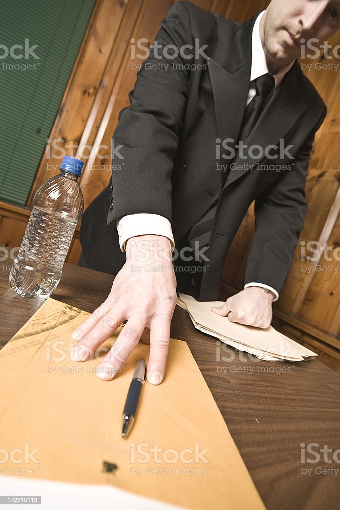 Detective - Asking for confession royalty-free stock photo