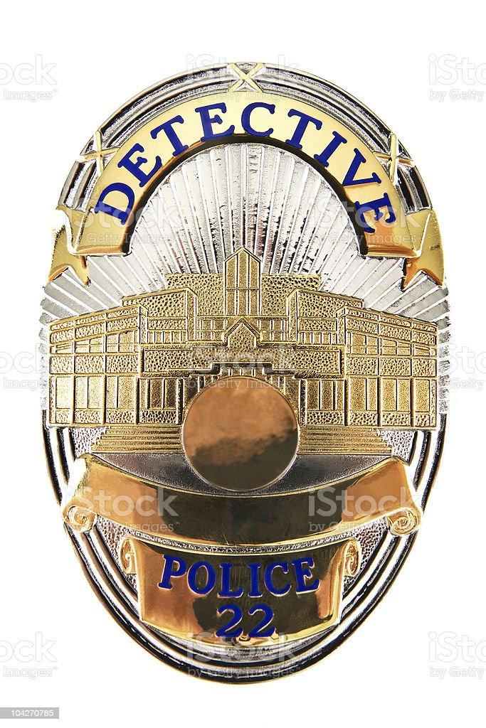 Detective Badge stock photo