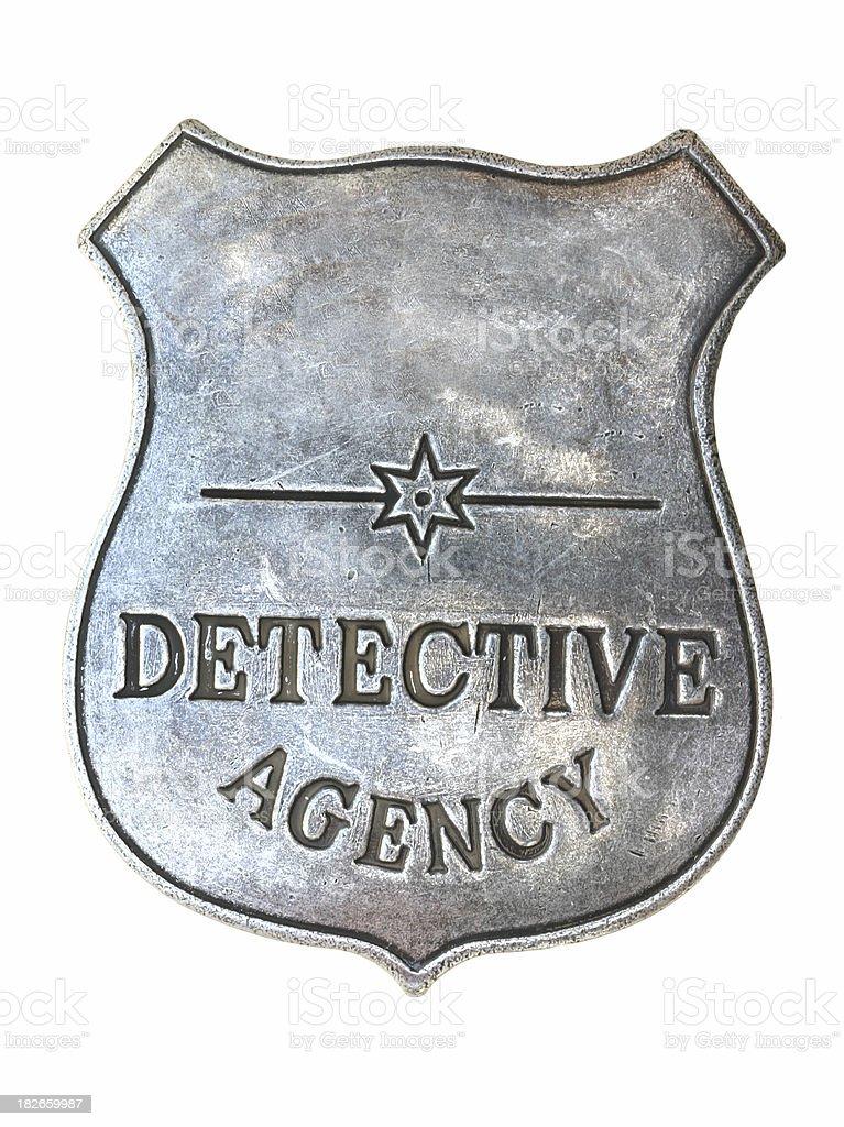 Detective Badge royalty-free stock photo