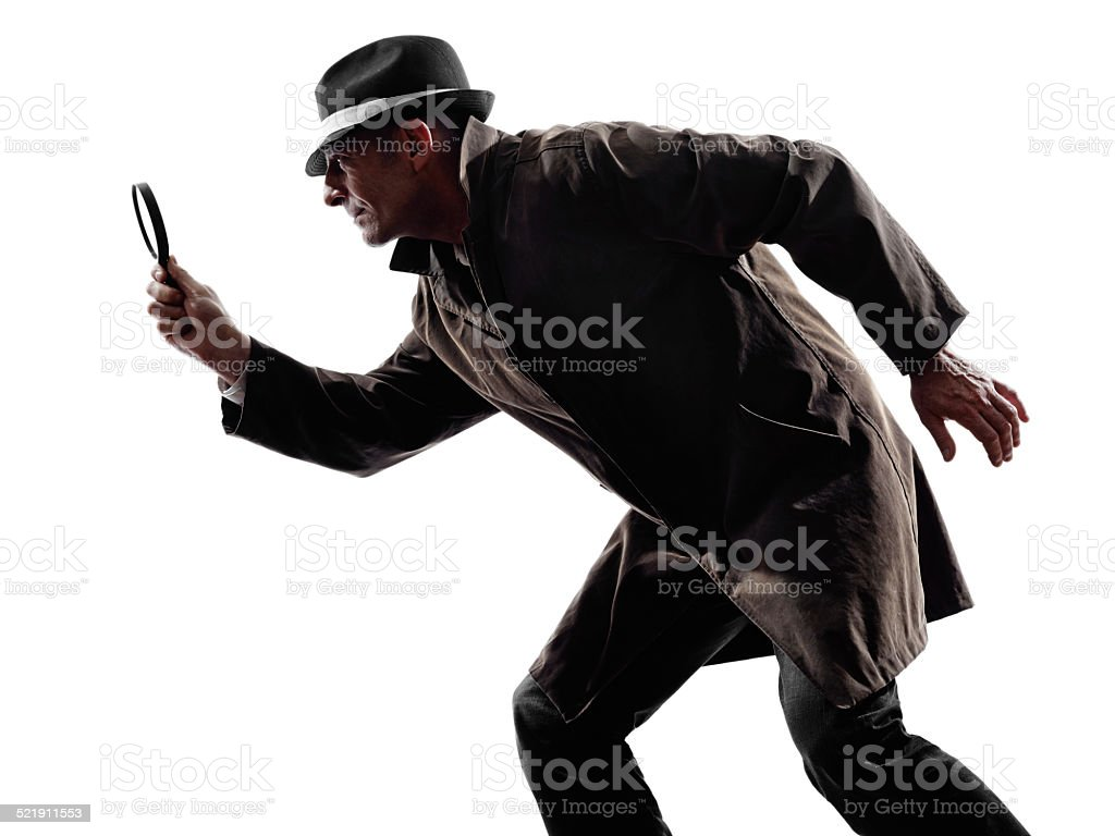 detective man criminal investigations  silhouette stock photo