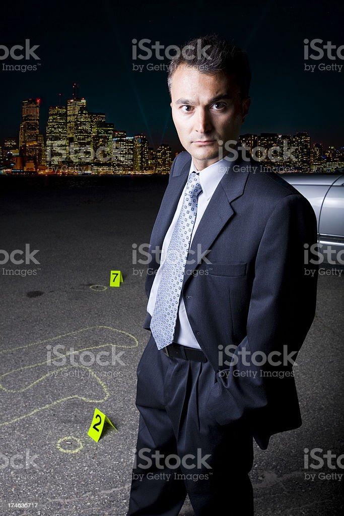 Detective Portrait royalty-free stock photo