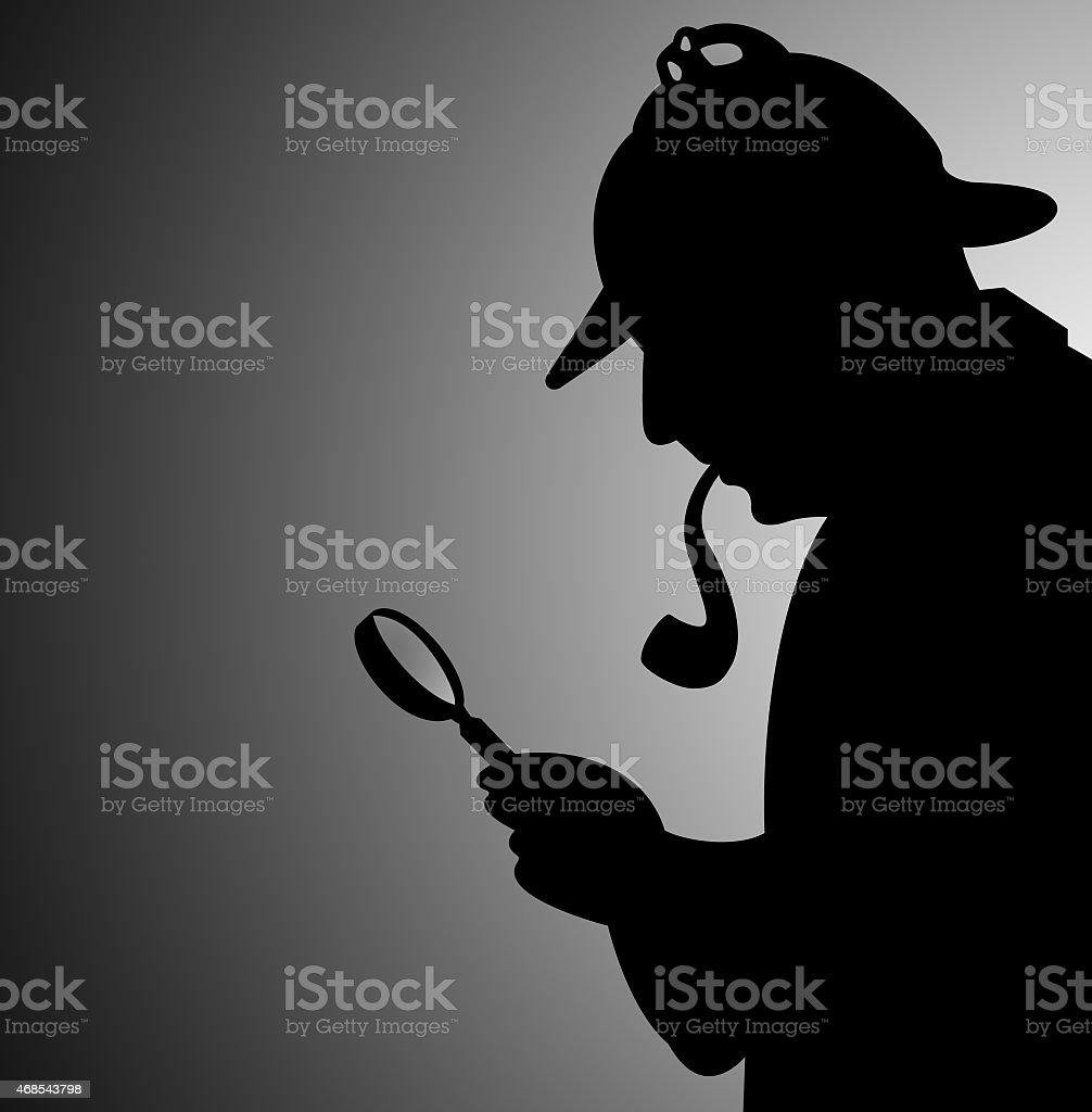 detective seeking clues stock photo