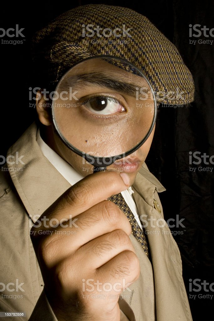 Detective spying stock photo