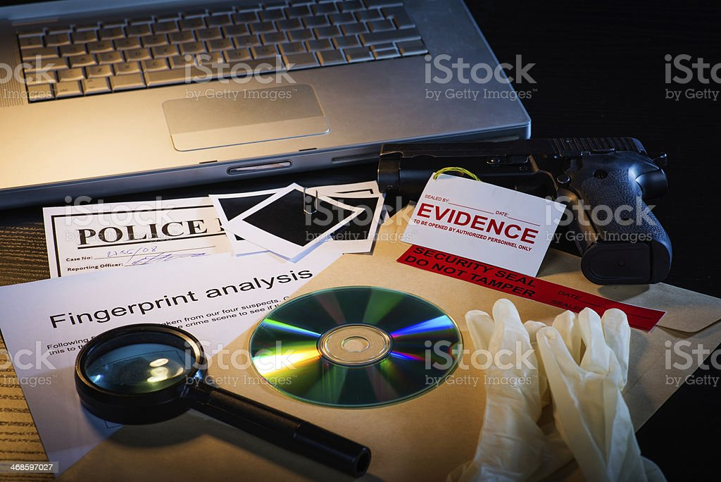 Detective stuff stock photo