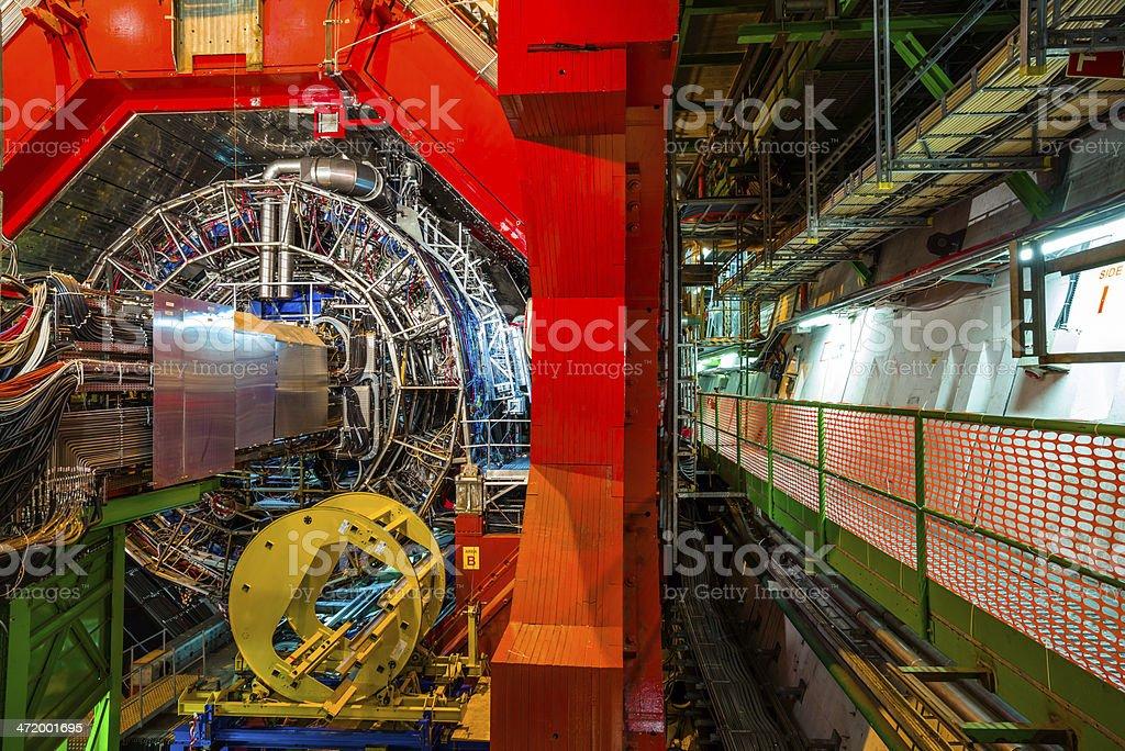 Detector experiments stock photo