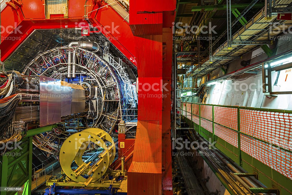 Detector experiments stock photo