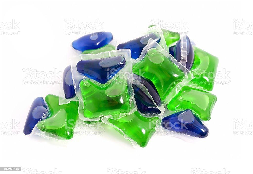 Detergent capsules stock photo