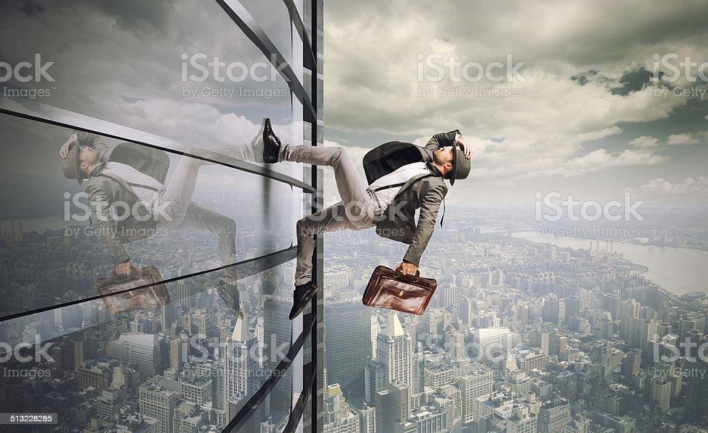Determinated businessman stock photo