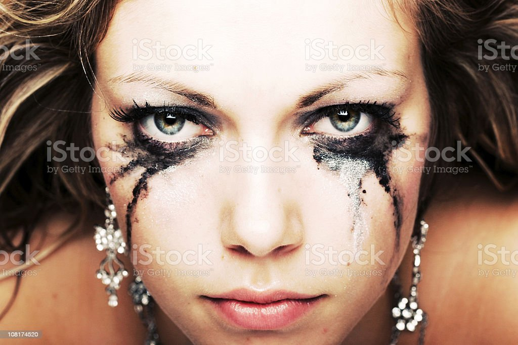 determinated eyes stock photo