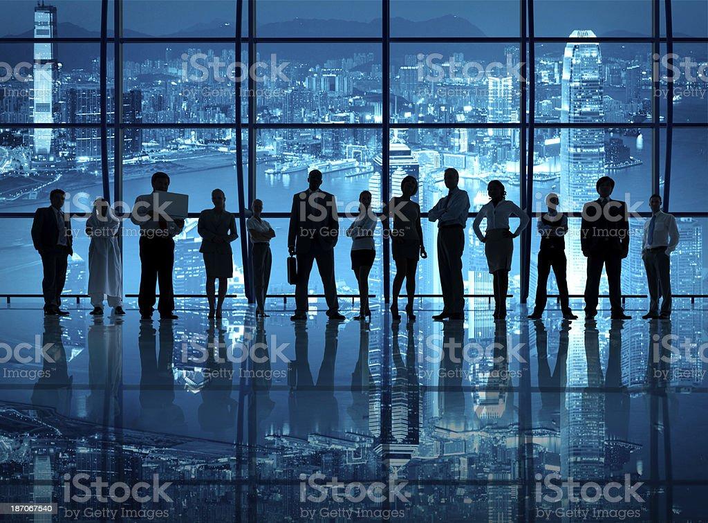 Determination of Business Teamwork stock photo