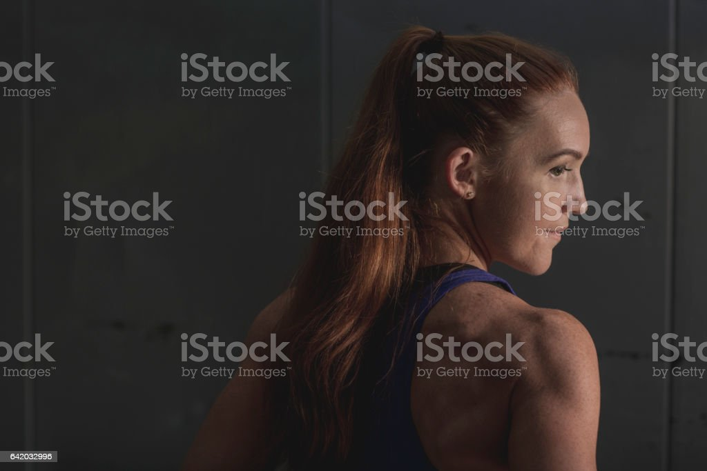 Determined Athletic Woman stock photo