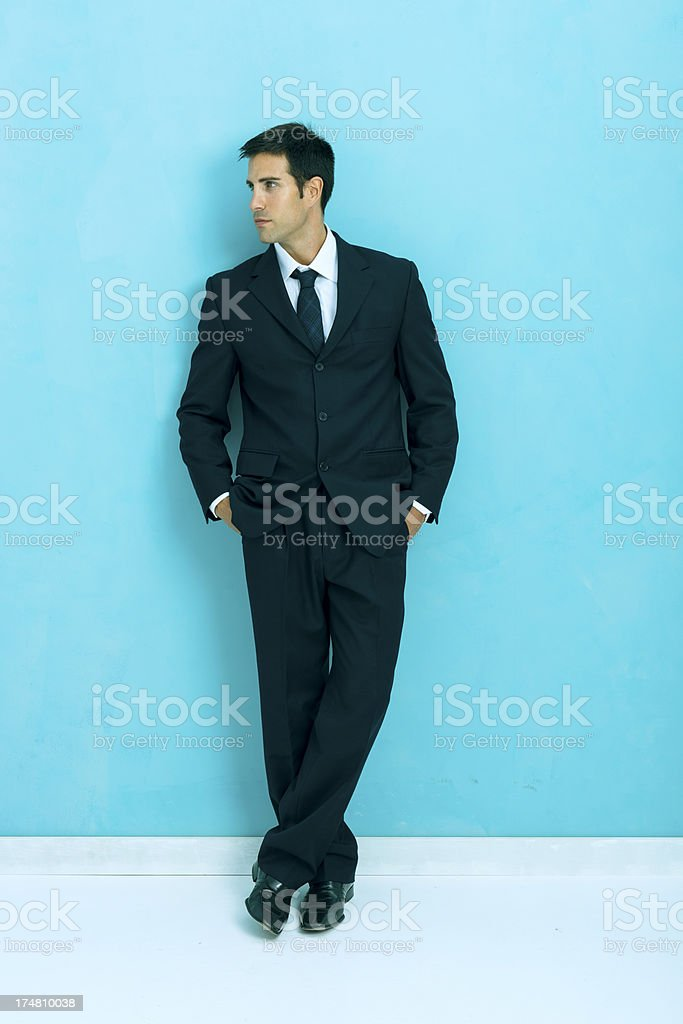 Determined businessman royalty-free stock photo