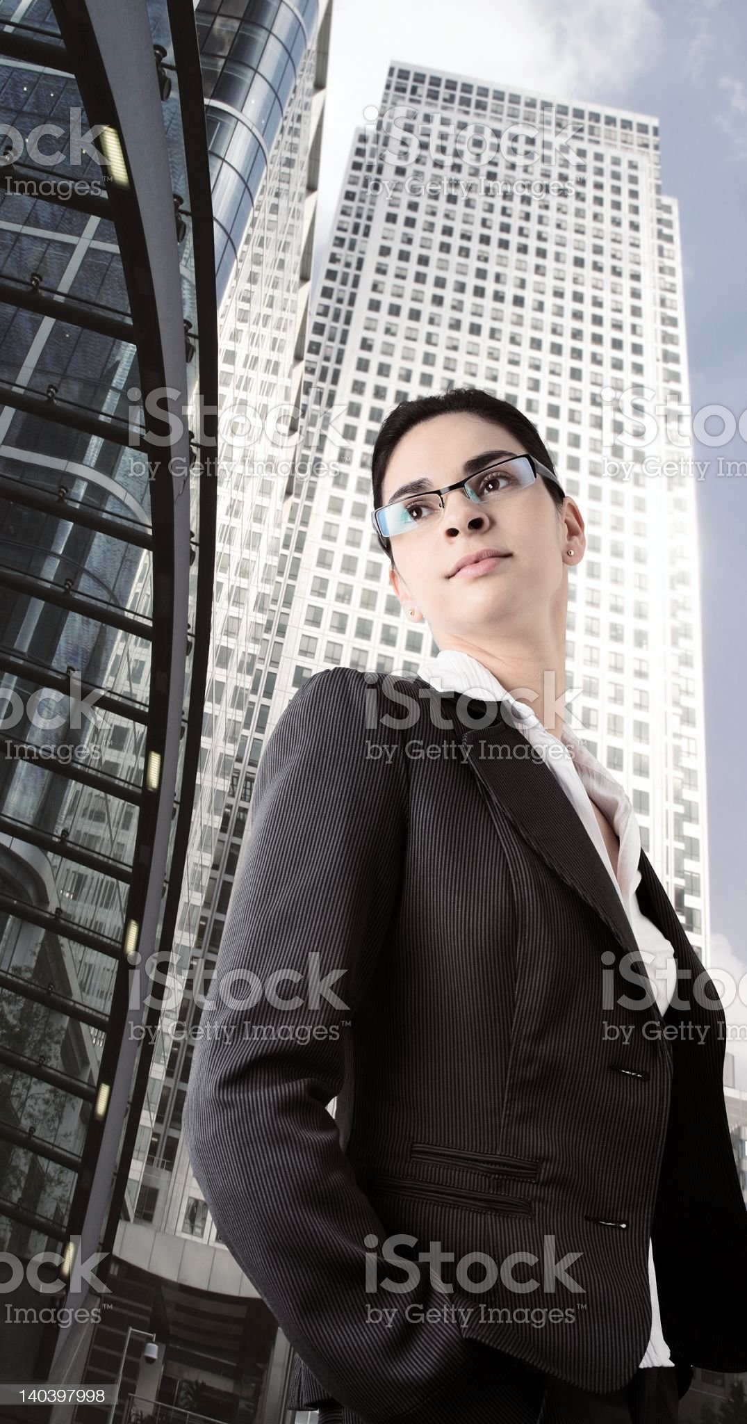 Determined businesswoman royalty-free stock photo
