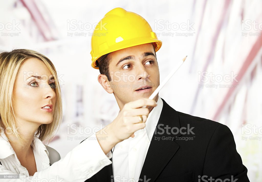 determined engineers architects royalty-free stock photo