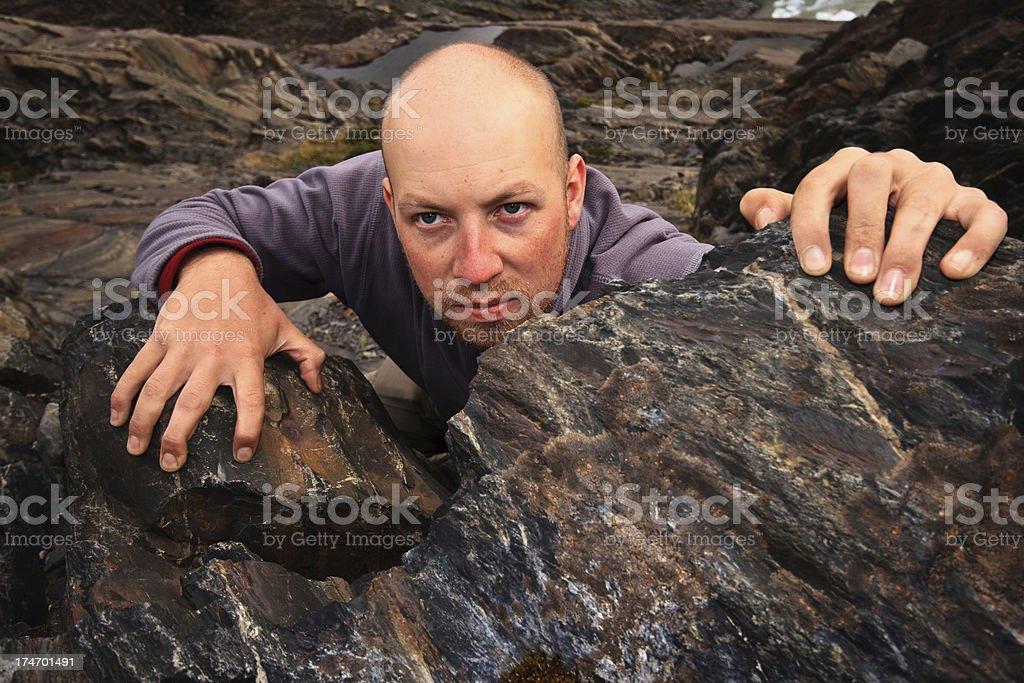 Determined Free Climber royalty-free stock photo