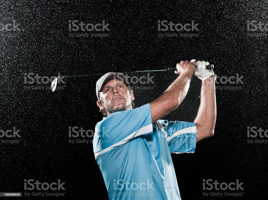 Determined Golfer royalty-free stock photo