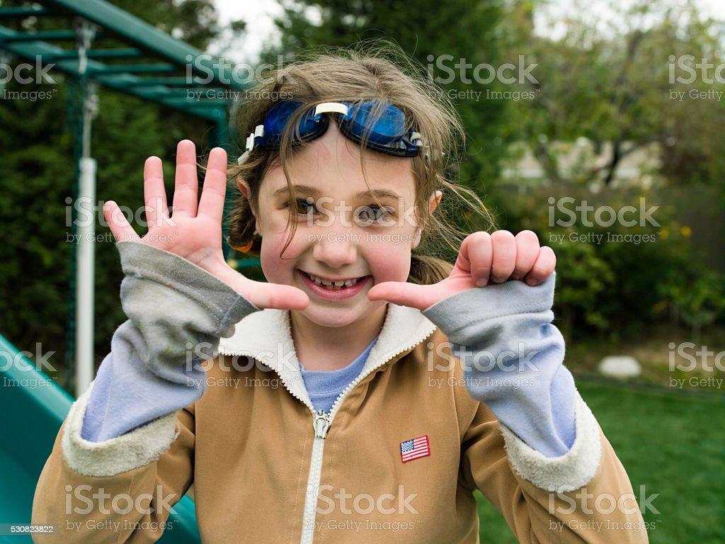 Determined Little Girl stock photo