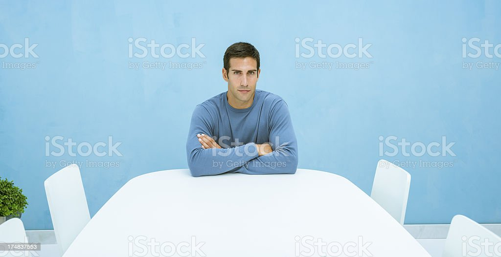 Determined man in board room royalty-free stock photo
