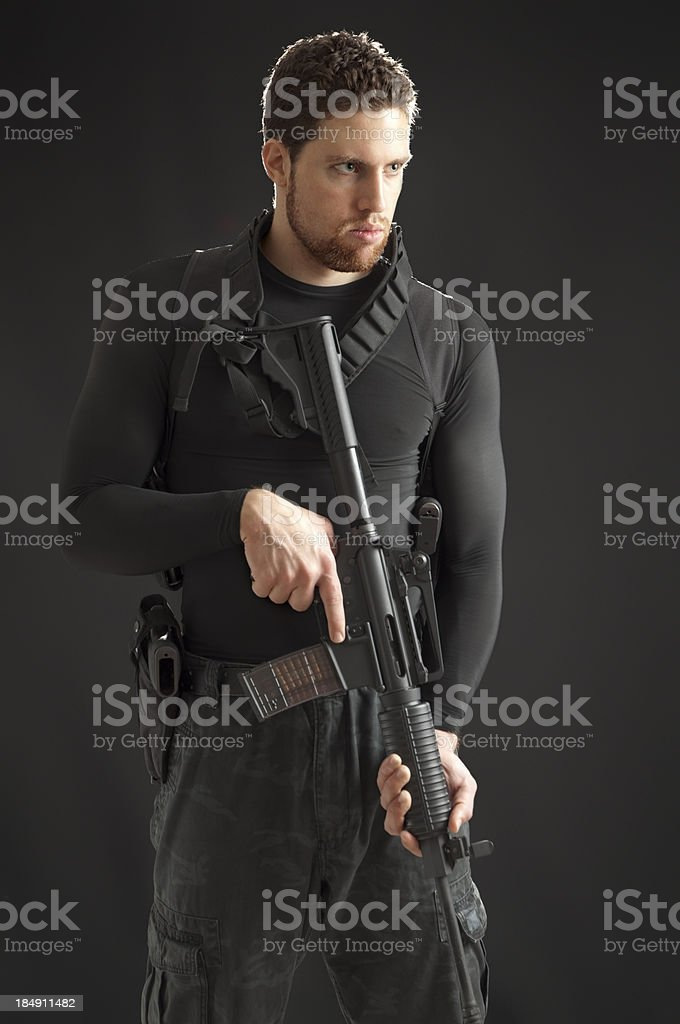 Determined Military Character royalty-free stock photo