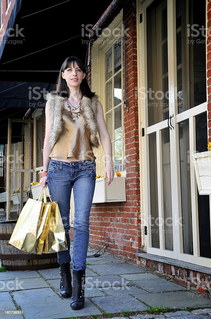 Determined New England Power Shopper royalty-free stock photo