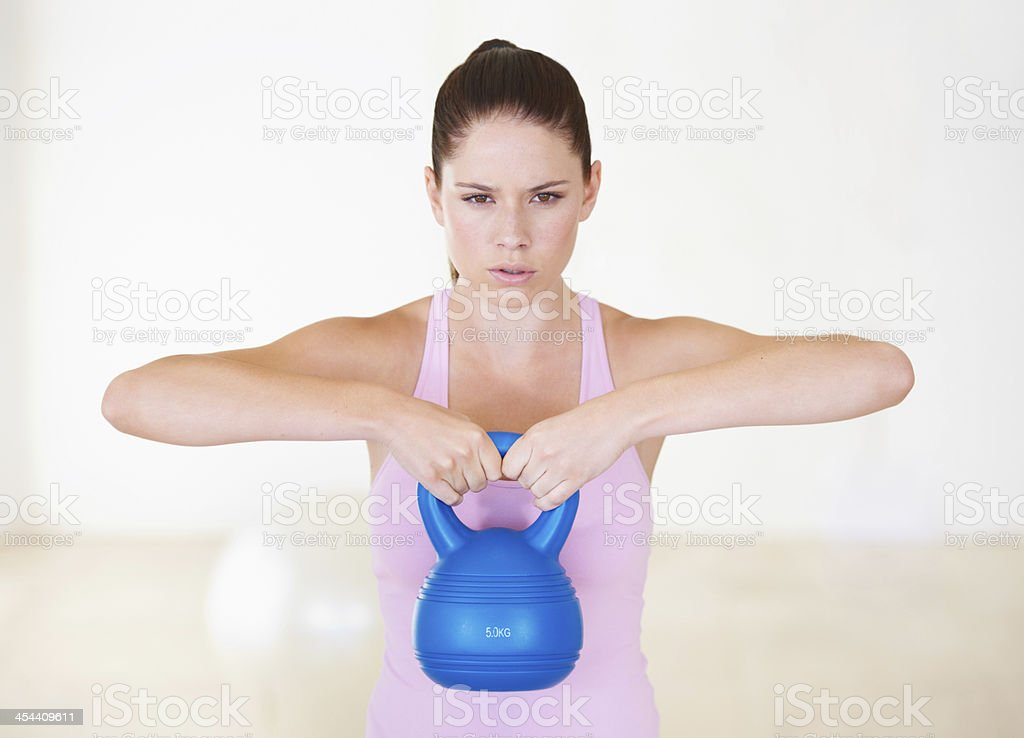 Determined to be stronger royalty-free stock photo