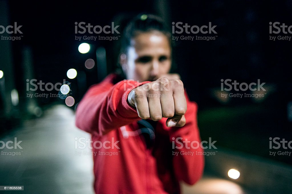 Determined to get in shape stock photo